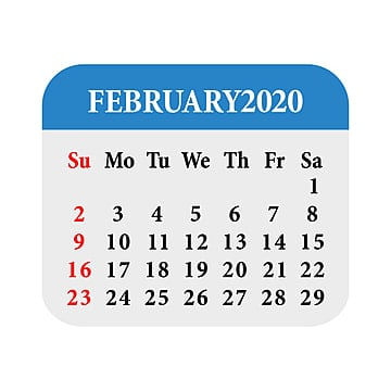 Calendar February 2020 Fancy February Calendar 2020 Template for Free Download on Pngtree