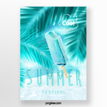 fresh summer ice cream posters Template