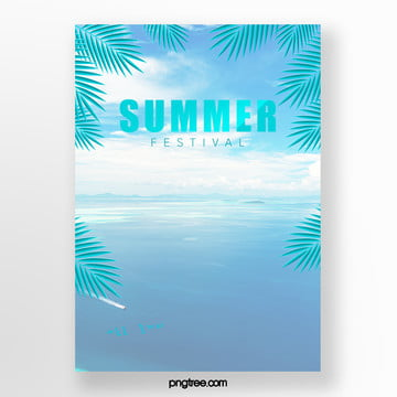 fresh summer marine palm eggdrop ice cream poster Template