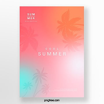 holographic plants projection poster Template