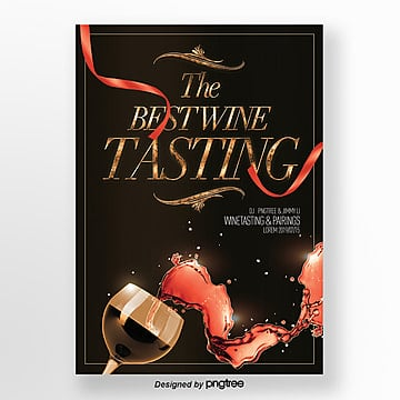 invitation letter for luxury fashion red wine tasting activities Template