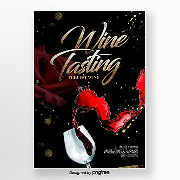 modern fashion simple red wine tasting activity flyer Template