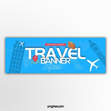 modern fashion simple travel theme page banner Template