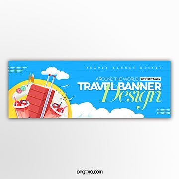 modern fashion simple web travel banner design Template