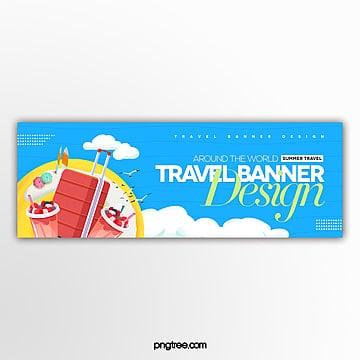 modern fashion simple web travel banner design Template