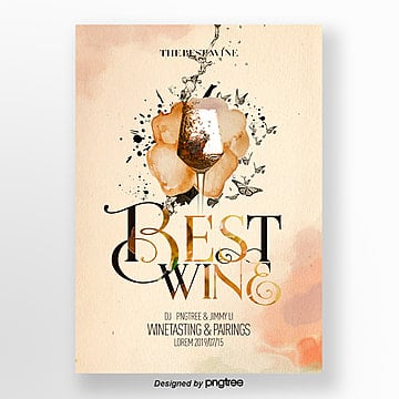 Retro Simple Red Wine Tasting Activity Flyer Template