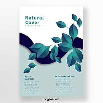 simple blue biotechnology business cover Template