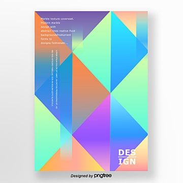 abstract style gradual color geometry trend poster Template
