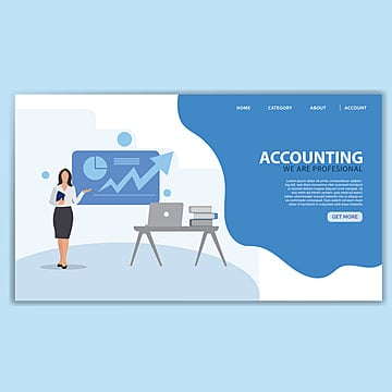 accounting landing page template Template