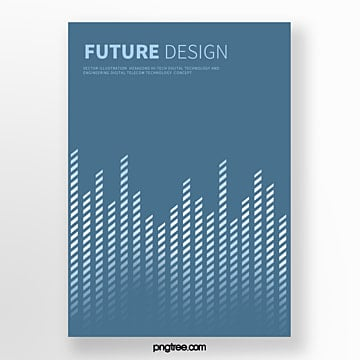 blue futurist polygonal line abstract cover poster Template
