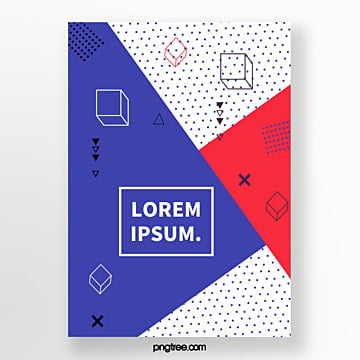 blue geometry point fashion poster Template