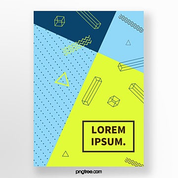 blue modernist geometric point abstract poster Template