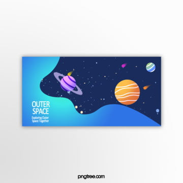 blue outer space gradient template Template
