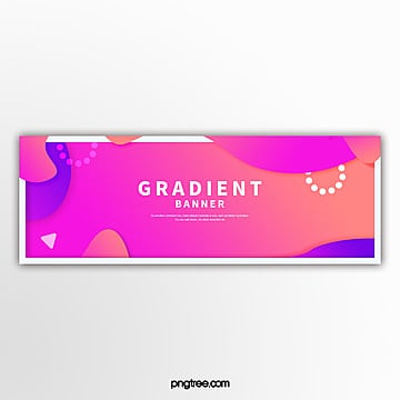 bright color gradient fluid border decoration e commerce banner Template