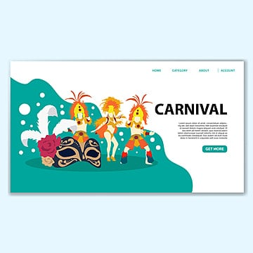 carnival landing page template Template