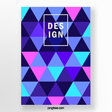 color geometry trend triangle seamless stitching fashion poster Template