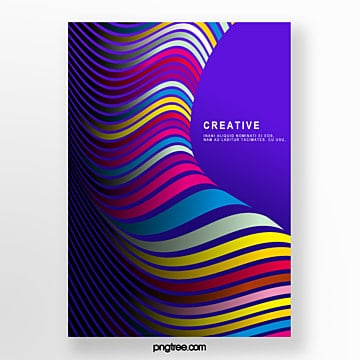 color gradient curve spiral poster Template
