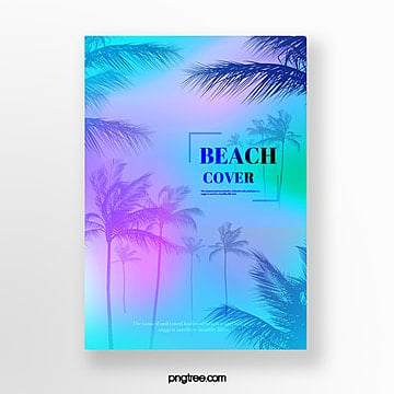 color gradient plant poster Template