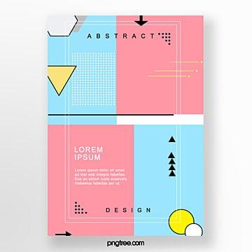 colorful irregular geometric posters Template