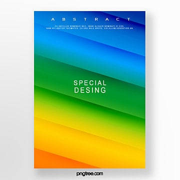 colour geometry creative poster Template