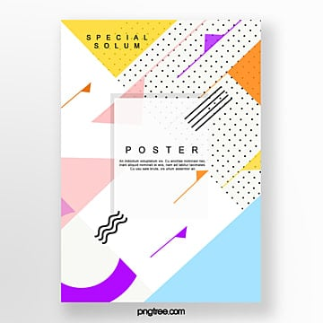 colour irregular geometry poster Template