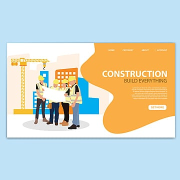construction landing page template Template