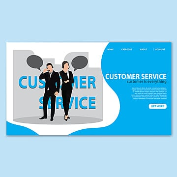 costumer service landing page template Template
