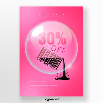 creative bar code elements hot selling promotional posters Template