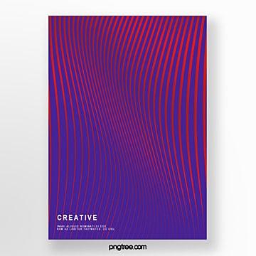 creative flow gradient line poster Template