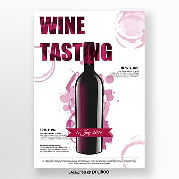 creative ink style wine tasting poster Template