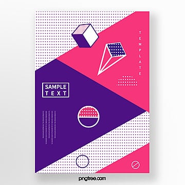 fashion abstract geometry dot poster Template