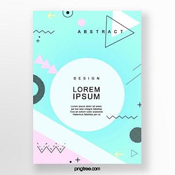 fashion art irregular geometry poster Template