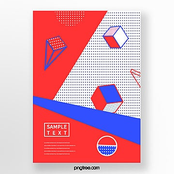 fashion block spotted geometric poster Template