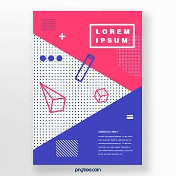 fashion geometry point poster Template