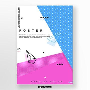 fashion irregular triangular geometry poster Template