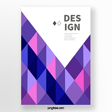 fashion poster of colorful seamless bright polygon geometry trend Template