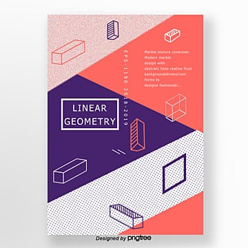 fashionable and simple style three dimensional geometric point poster Template