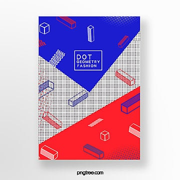 fashionable geometric dot posters Template