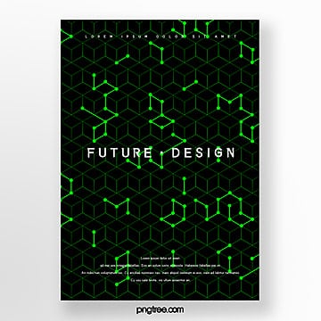 future science and technology business cover design poster Template