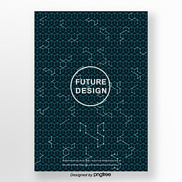 future style dark background cover design poster Template