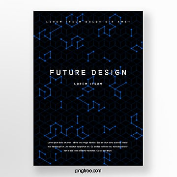 future technology cover design poster Template