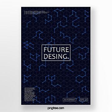 futuristic cover design posters Template