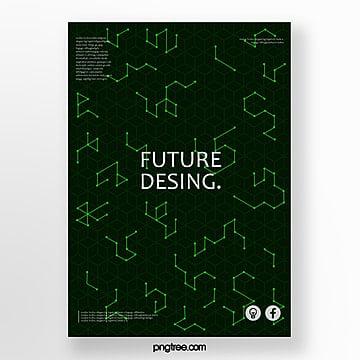design di copertina manifesti futuristi Modello