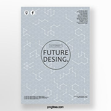 futuristic cover design posters Template