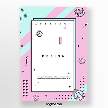 geometric irregular pattern poster Template