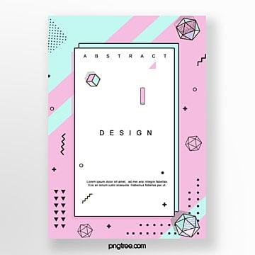 geometric irregular pattern poster Template