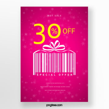 gift box bar code elements hot selling promotional posters Template
