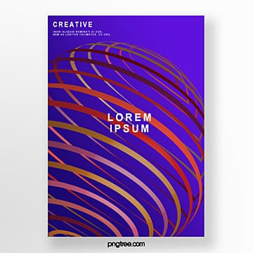gradient geometric stripe poster Template