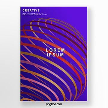 gradient geometric stripe poster Template