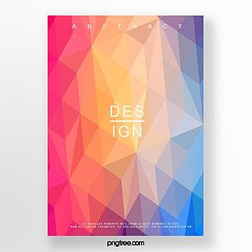 gradual diamond abstract poster Template
